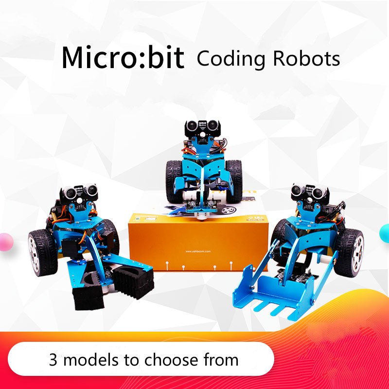 Micro:bit Robot Programming Inteligent Remote Control Car For Kids Robot Toy Mini car цена
