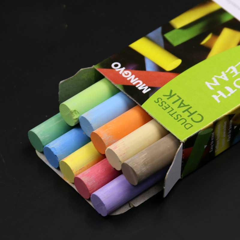 10pcs / pack Kvalitet White Colored Dustless Kalkstavar För - Skola och pedagogiska förnödenheter - Foto 3