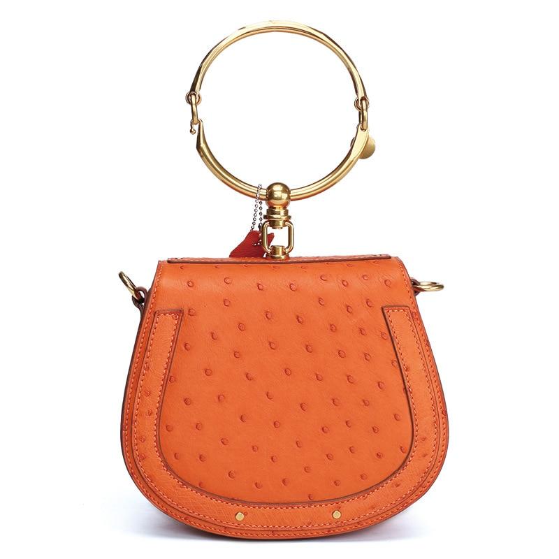 Für Orange Leder rot Hochzeit Straußen Top Weiblichen Handtasche blau grün Frauen Mcparko schwarzes 2019 griff Mode gelb Tasche Taschen orange Geschenk elfenbein Abend Beige Luxus Damen 8SwqTwtd