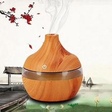 Adoolla 7 Colors LED Aroma Ultrasonic Air Humidifier Purifier Mist Maker Wood Grain Air Aromatherapy Essential Oil Diffuser цены