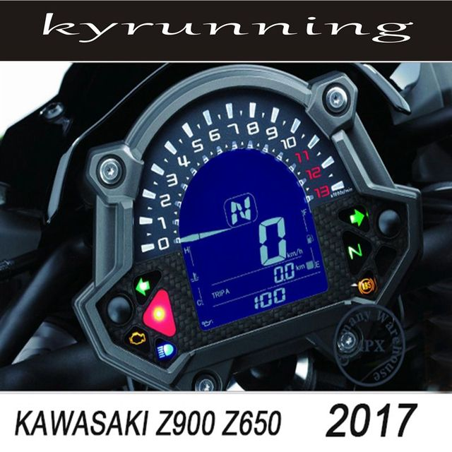 KYRUNNING For Kawasaki Z900 Z650 2017 Motorcycle Accessories Cluster Scratch Speedometer Film Screen Protector