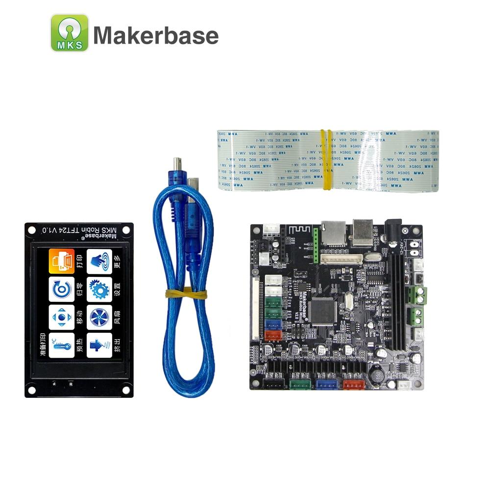 Carte d'imprimante 3D MAKERBASE STM32 MKS Robin mini avec écran TFT 2.4 pouces support logiciel à source fermée arrêt automatique à bord - 2