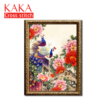 Cross stitch kits,Embroidery needlework sets with printed pattern,11CT-canvas for Home Decor Painting,Animals Full NCKA033