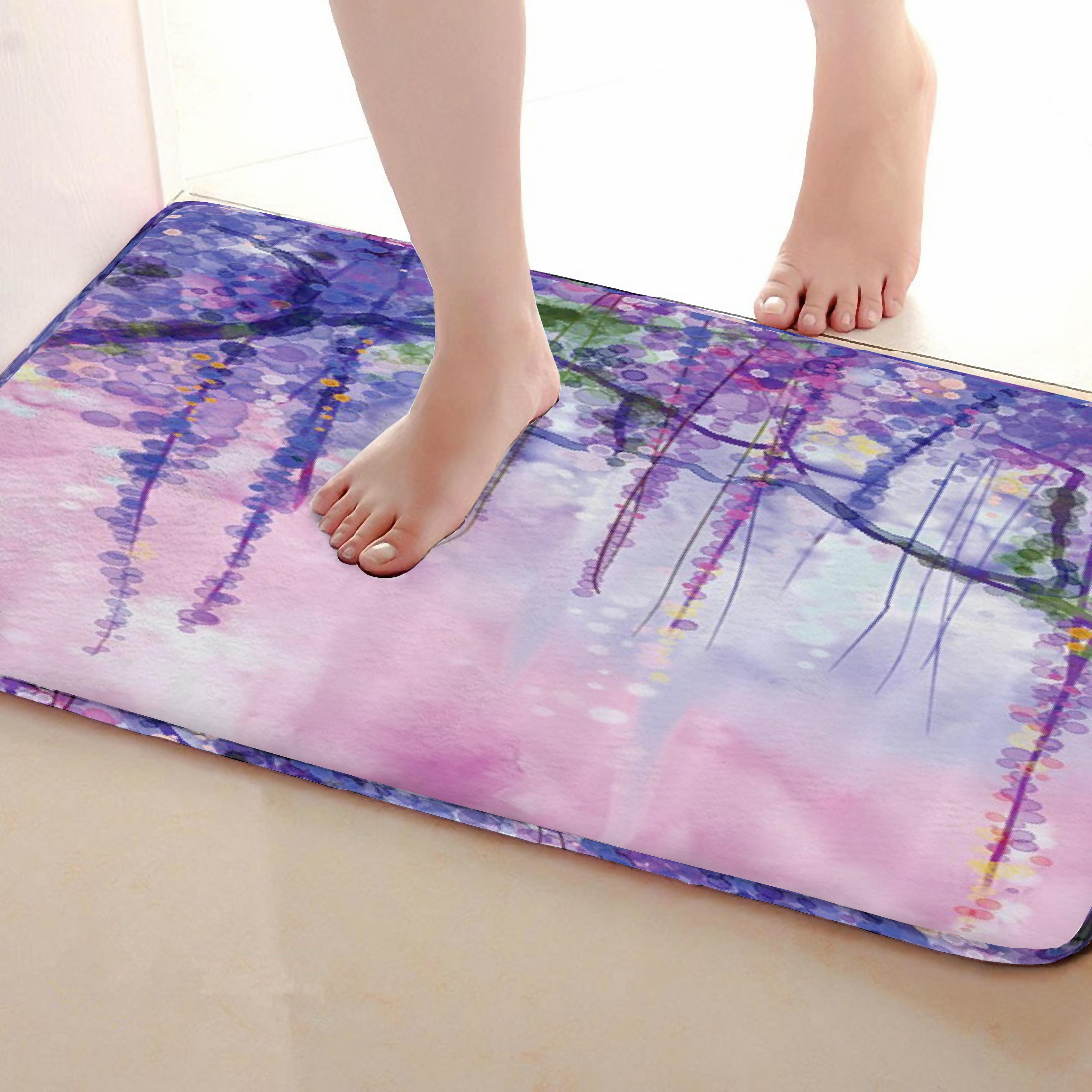 Tree branches Style Bathroom Mat,Funny Anti skid Bath Mat,Shower Curtains Accessories,Matching Your Shower Curtain