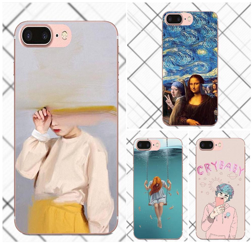 Soft Live Love Phone Mona Lisa Funny Spoof Art For Xiaomi Redmi 5 4A 3 3S Pro Mi4 Mi4i Mi5 Mi5S Mi Max Mix 2 Note 3 4 Plus