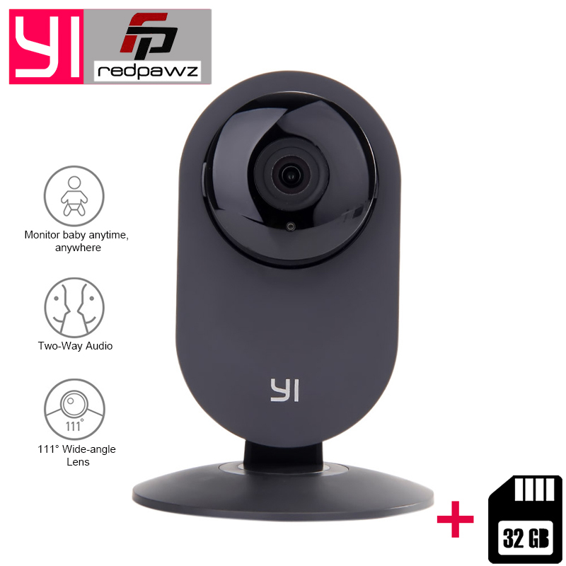[Édition internationale] Xiaomi YI Maison Caméra HD 720 p + 32 gb Carte IP Caméra 110