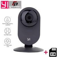 International Edition Xiaomi YI Home Camera HD 720P 32GB Card IP Camera 110 Wide Angle