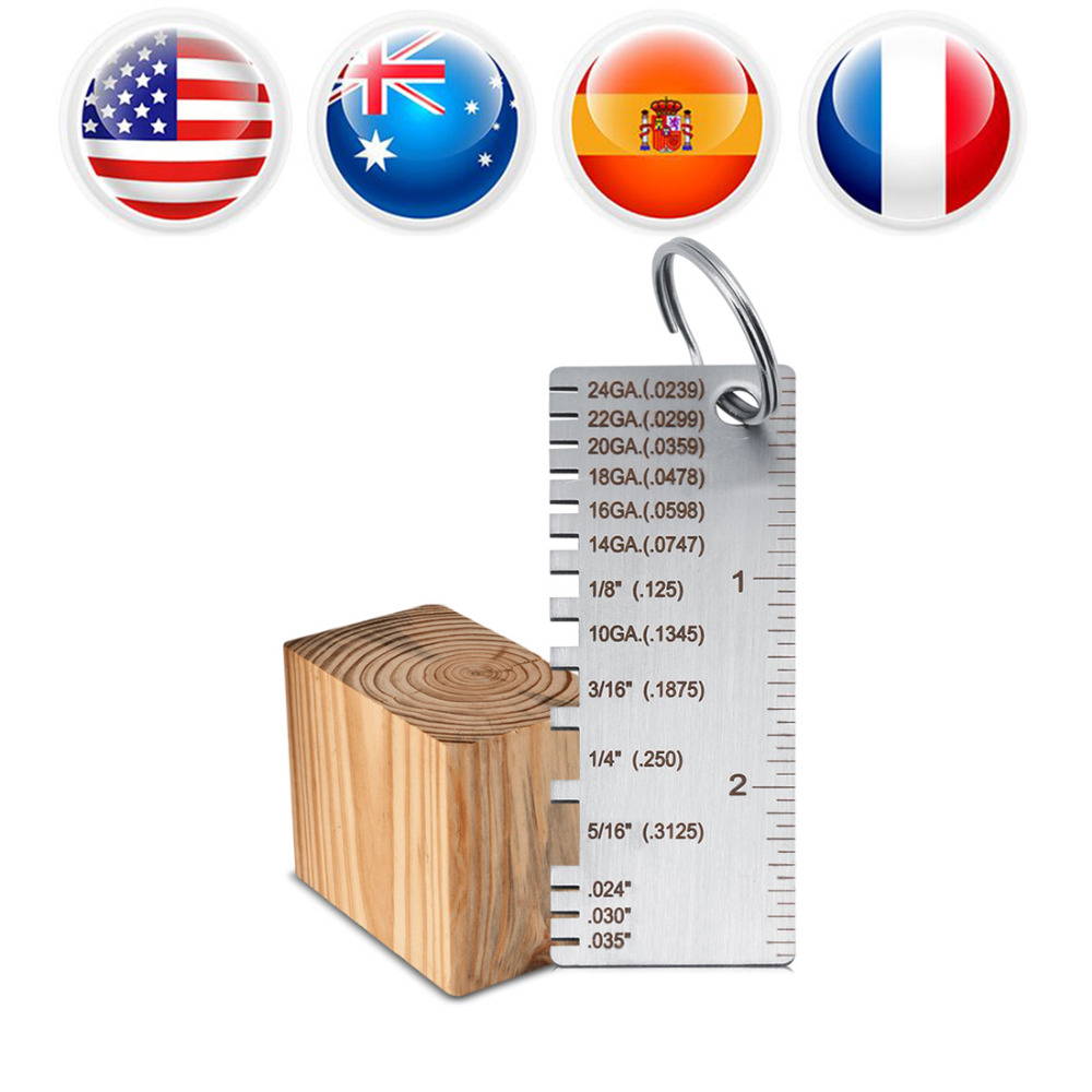 Stainless steel welding gage wiremetal sheet thickness gauge wire stainless steel welding gage wiremetal sheet thickness gauge wire gauge plated size welding inspection tool in width measuring instruments from tools on greentooth Choice Image