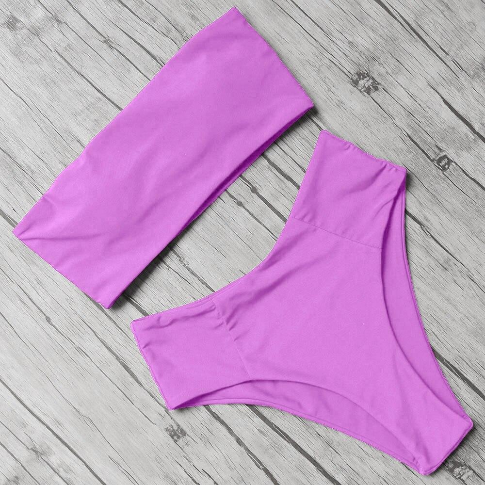 Sexy Animal Printed Bathing Suit Female Push Up Bikini High Waisted Swimsuit Bandage Mayo Bandeau Swimwear