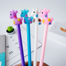 48pcs/lot Cute Cartoon Creative Candy Color Kawaii Deer Gel Pen/stationery Office School Students Supplies