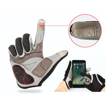 ESSEN Men Cycling Gloves Touch Screen Full Finger Anti Slip Gel EVA Pad Motorcycle MTB Road Bicycle Winter Warm Ride Long Glove