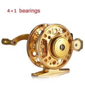 Image 3 - YUYU moulinet de pêche à la mouche entièrement en métal, avec frein automatique, moulinet de poisson sur glace en alliage daluminium, ratio dengrenage de 3.0:1 4 + 1BB