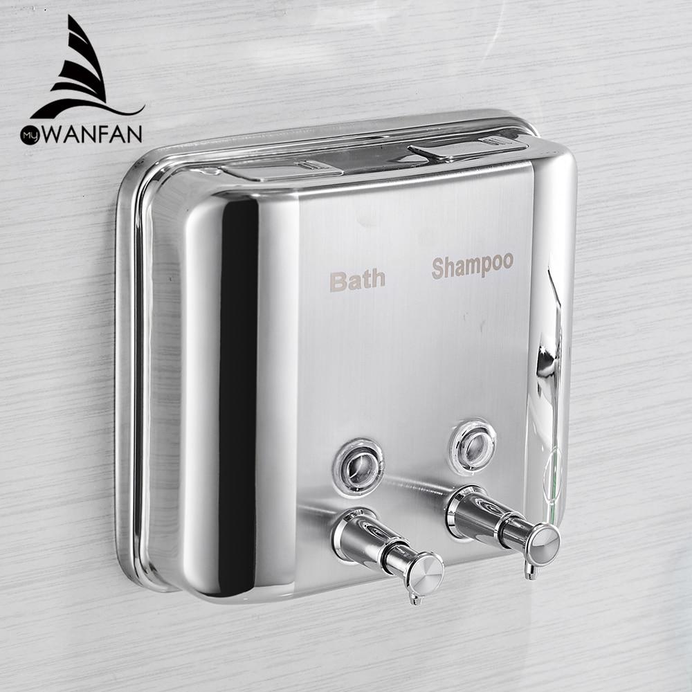 Liquid Soap Dispensers 1500ML 304 Stainless Steel Wall Mounted Bathroom Liquid Hand Soap Dispenser Kitchen Saboneteira WF-18020
