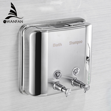 Liquid Soap Dispensers 1500ML 304 Stainless Steel Wall Mounted Bathroom Hand Dispenser Kitchen Saboneteira WF-18020