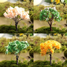 1 Pcs/set Lovely False Tree Cherry Tree Christmas tree Garden Art PVC Action Figures Collection Model Toy For Garden Decoration