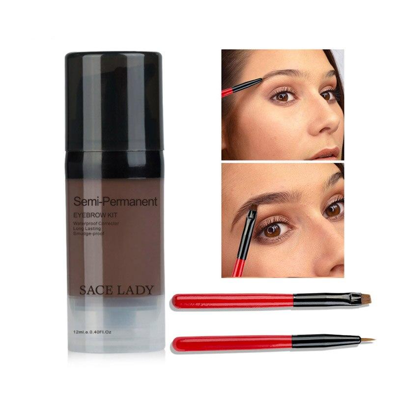 Long Lasting And Waterproof 6 Colors Liquid Eyebrow Gel Makeup Eye Brow Tint Natural Enhancer with brush Make Up Cream