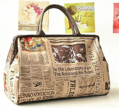 Portable Women Travel Bag Large Capacity Tote Handbag Waterproof Vintage Luggage