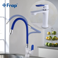 Frap Multi color Basin Faucet Kitchen Faucet Silica Gel Nose Any Direction Cold and Hot Water Mixer Torneira Cozinha F1034F4034