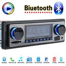 12 V Coche Reproductor de Radio Estéreo Bluetooth FM MP3 USB SD AUX autoradio 1 DIN Audio Auto Electrónica oto teypleri radio párr carro