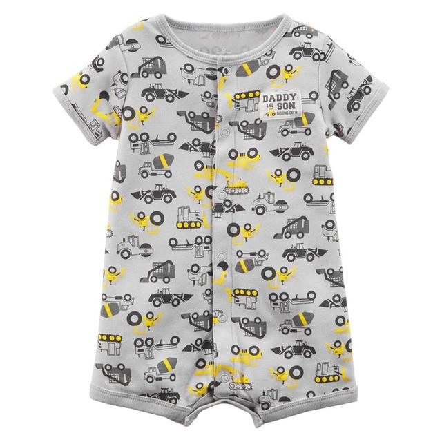 7d46788e98aa 2019 New Baby Boy Rompers Kids Short Sleeve Jumpsuit Newborn Romper ...