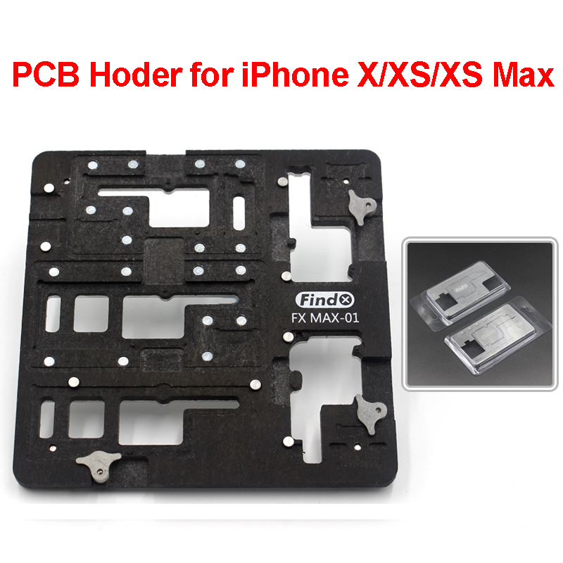 PCB Holder With <font><b>BGA</b></font> Reballing <font><b>Stencil</b></font> Kits <font><b>for</b></font> iPhone X XS XS MAX Motherboard Clamp Fixture Planting Tin Repair Tools Outils image