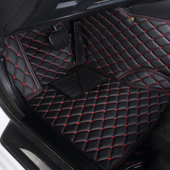 leather car floor mats fit for Toyota Rav4 2009-2014 2015 2016 2017 2018s all models black red dustproof easy to clean floor mat