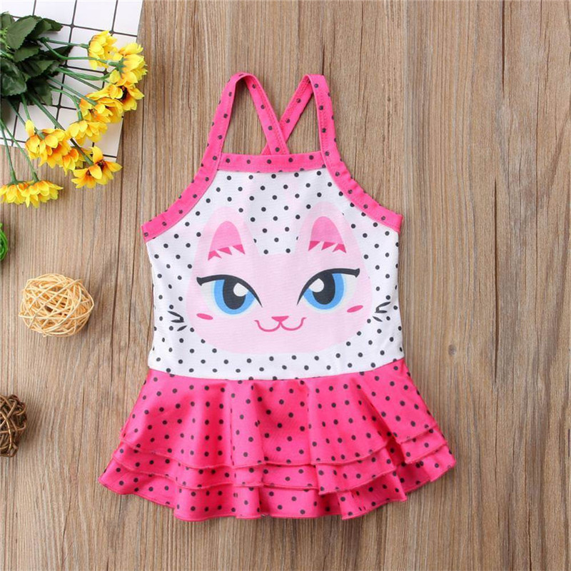 US Stock Toddler Kids Baby Girls Swimwear Swimsuit One-piece Bikini Beachwear