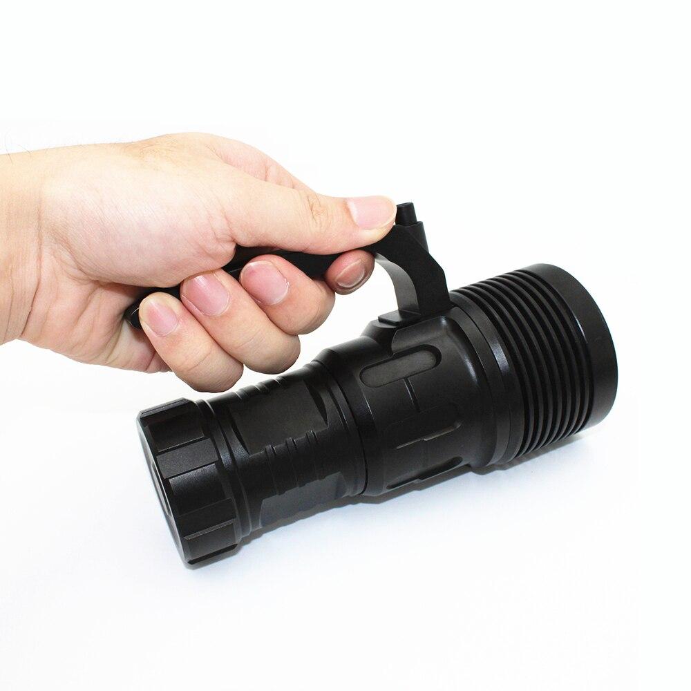 4000лм XHP70 светодиодный фонарик для дайвинга супер яркость свет подводный водонепроницаемый алюминиевый фонарик использование 4 шт 18650 литий ... - 6