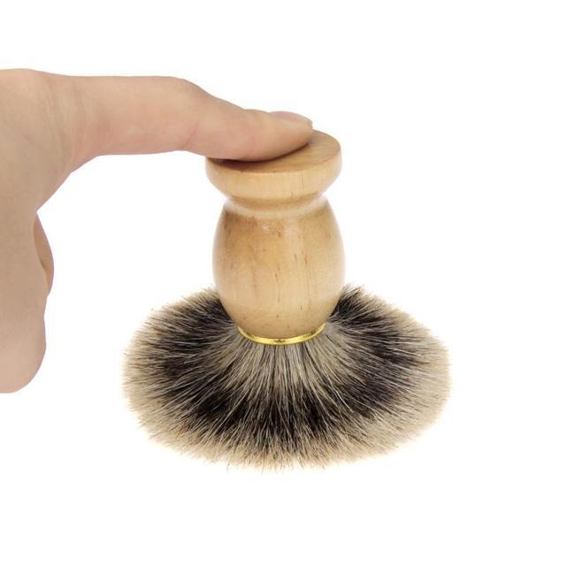 Новая мода высокое качество ZY Новых Мужчин Деревянной Ручкой Кисти Для Бритья Волосы Барсука Для Отец Мужчины Парикмахерская Инструмент Энн
