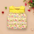 2017 New Fashion Toddler Baby Warm Down Cotton Vest Children Floral Print Sleeveless Outwear Waistcoat Kids Boys Girls Coats