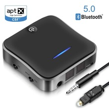 Bluetooth Receiver /Transmitter Dual Stream Optical Digital Bluetooth  Audio Transmitter for TV, SPDIF supports aptX Latency
