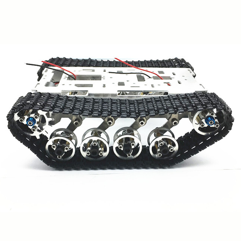 Aluminum Alloy Smart Robot Car Chassis Big Tank Chassis with Motors for DIY Remote Control Robot Car DIY Toys