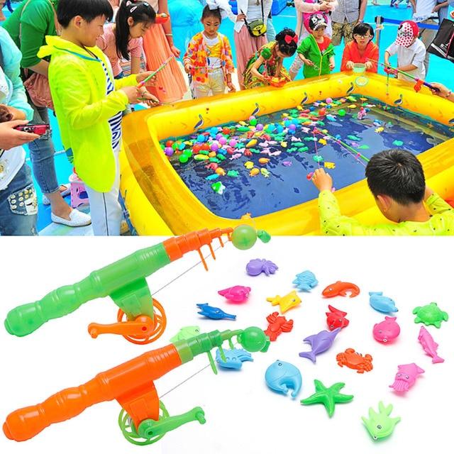 anak bayi anak magnetic memancing rod ikan model mainan pendidikan