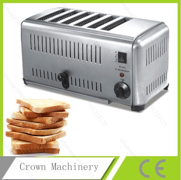Stainless Steel 6 Slices Toaster Bread Toast Machine For Breakfast Тостер