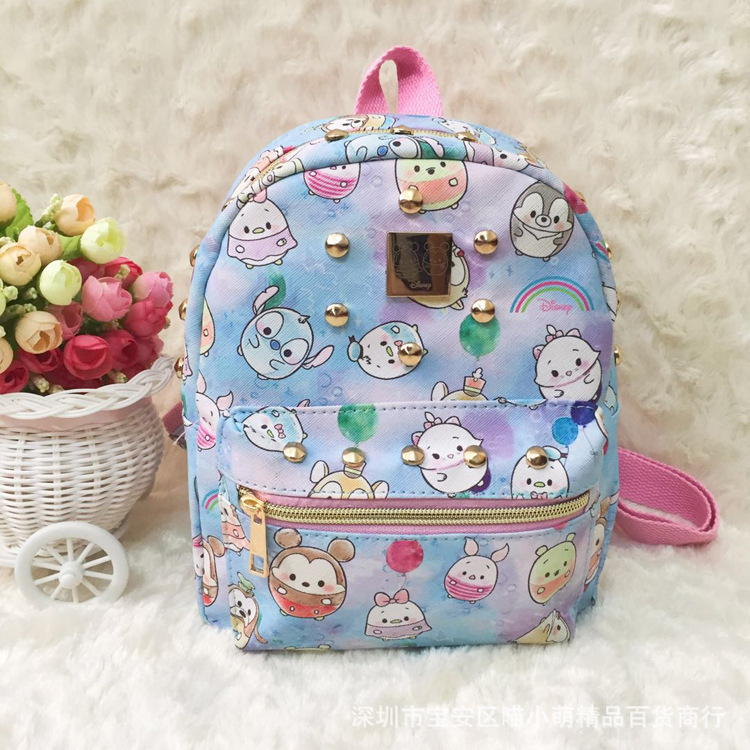 School Backpack Knapsack Stitch Casual-Bags Travel Unisex Fashion PU Melody IVYYE Anime