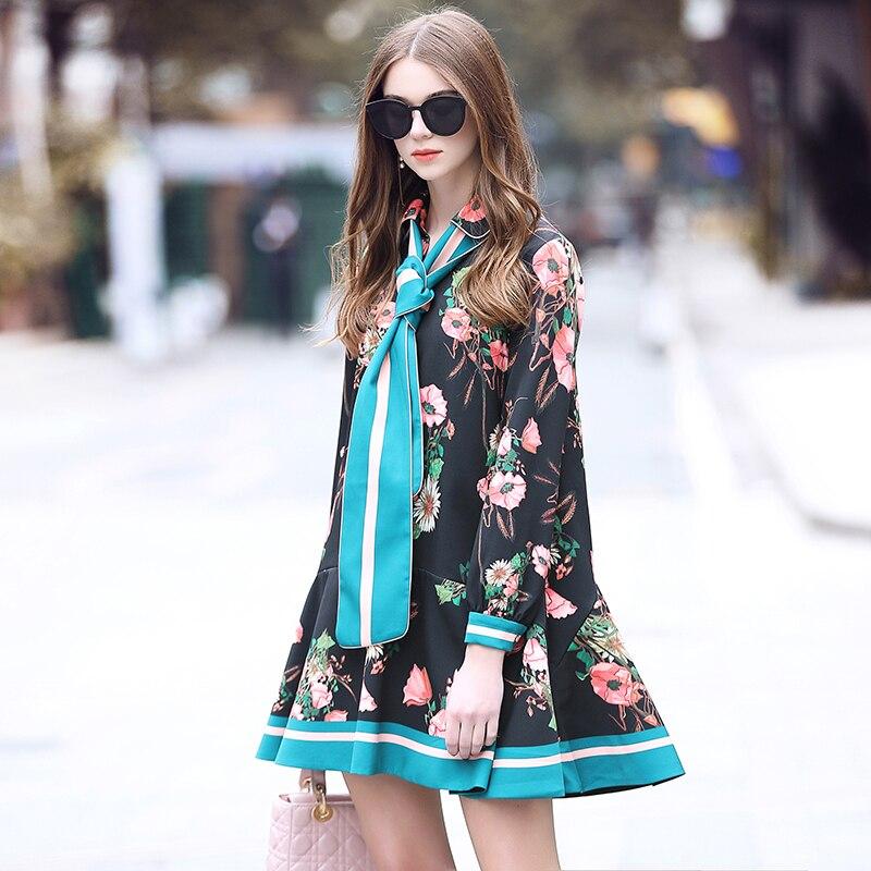 Printemps Un Tempérament Nouveau Floral Robe Mot Famille Imprimé Chart Bord 2019 See Couleur Laurence Contraste Rmojul xIYqU