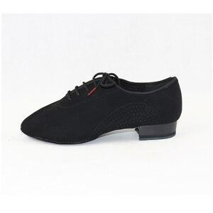Image 5 - スニーカーbdダンスシューズ男性靴スクエアダンス社会社交ラテンシューズ309黒317現代の靴ホットオックスフォード布ヒール25ミリメートル