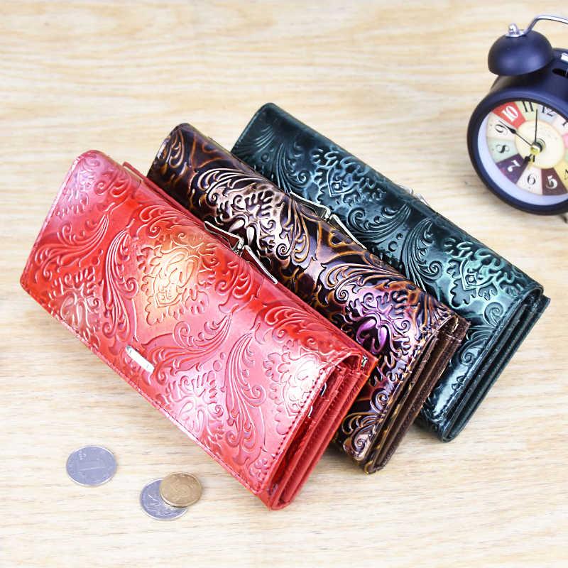 DICIHAYA Женский Длинный кошелек из натуральной кожи, женские клатчи, кошельки для денег, фирменный дизайн, сумочка для сотового телефона, держатель для карт, кошелек