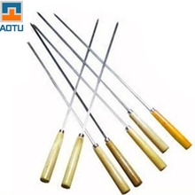 7 Pcs/Lot Stainless Steel Barbecue Accessories Needle Skewers Wooden Handle  Outdoor Barbecue Tools Camping