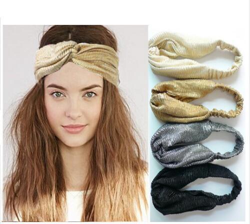 14e5aa36b8e ON SALE 1PCS Glitter Elastic Stretch Twist Headband Turban Headwrap  Headwear Women Bandanas Twist Hair Bands Turbante