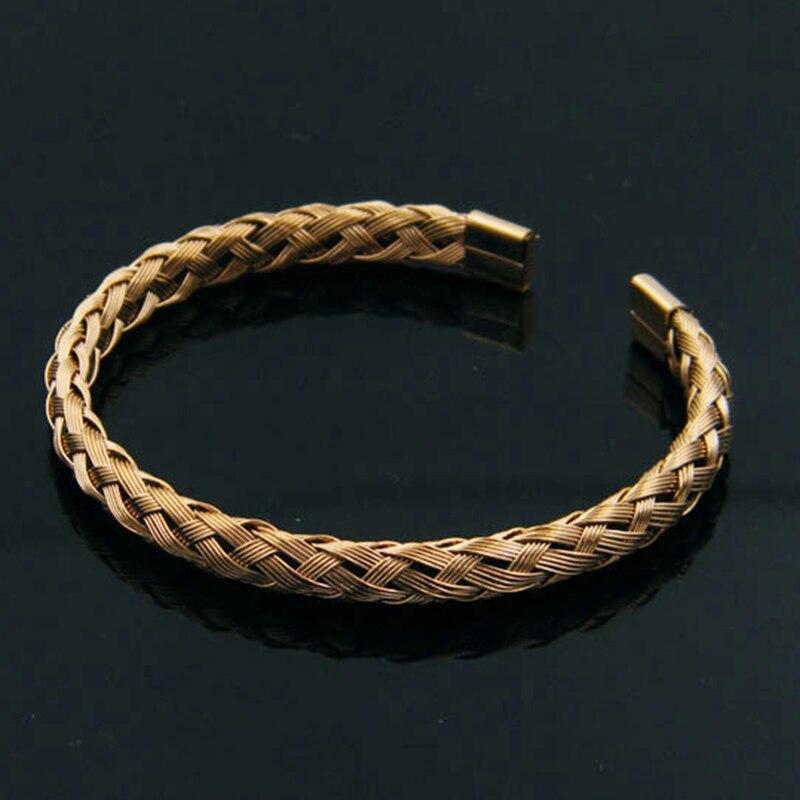 (10 pièces) Beichong bijoux de mode Bracelet en or en acier inoxydable fil tressé torsion corde Bracelet Bracelet pour hommes femmes cadeau