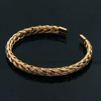(10pcs)Beichong Fashion Jewelry Gold Bracelet Stainless Steel Wire Braided Twist Rope Bracelet Bangle for Men Women Gift
