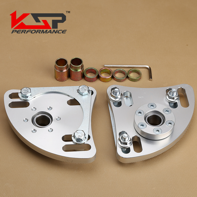 Kingsun Adjustable 3 Bolts Front Pillow Ball Top Strut Mounting Plate Upper Camber Caster Kit For Ford Mustang 1994-2004