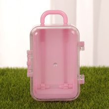 12pcs Birthday Lightweight Practical Candy Box Cute Gift With Handle Suitcase Shape Baby Shower Party Favors Portable Wedding
