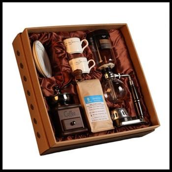 Household set Retro manual grinder coffee bean grinder household mill coffee machine portable coffee machine siphon coffee maker