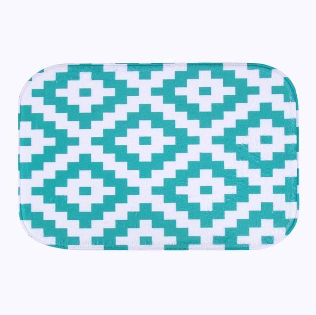 Simple Design 2016 Microfiber Chenille Bath Mat Carpet Floor Rugs Carpets Horizontal Stripes Rug For Bathroom