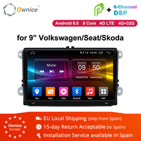Ownice 2Din 9 Android 8.1 4G Car dvd GPS Navigation Player for Volkswagen VW SKODA GOLF 5 Golf 6 POLO PASSAT B5 B6 JETTA TIGUAN