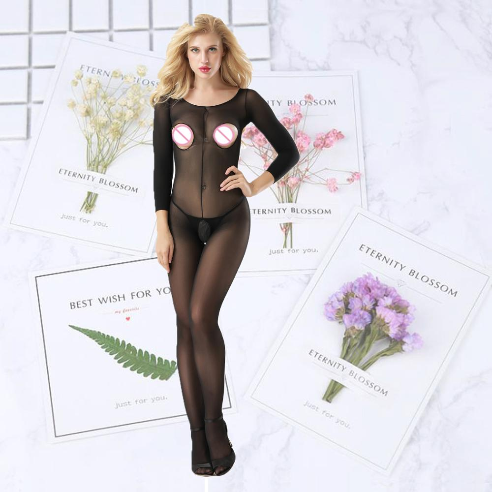 erotic cosplay in Womens babydoll chemise Sexy Lingerie Underwear Transparent stockings Erotic Costumes