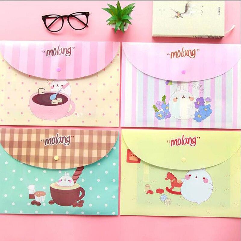 Super Cute Fashion Rabbit Rabbit File Bag Business Office Folder Children's Student Stationery Bag 1pcs (color Random)