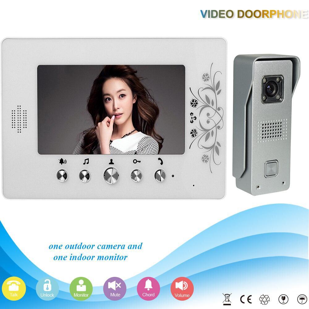 DHL Shipping V70A M3 1V1 XSL 7 Inch Color Video Door Phone Intercom System Smart Home